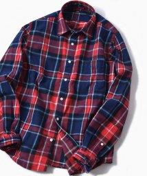 SHIPS MEN/SC: チェック レギュラーカラー フェザー ネルシャツ/501447124