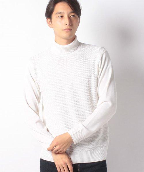 Men's Bigi(メンズビギ)/へリンボーンタートルネックセーター/M0184KSW08