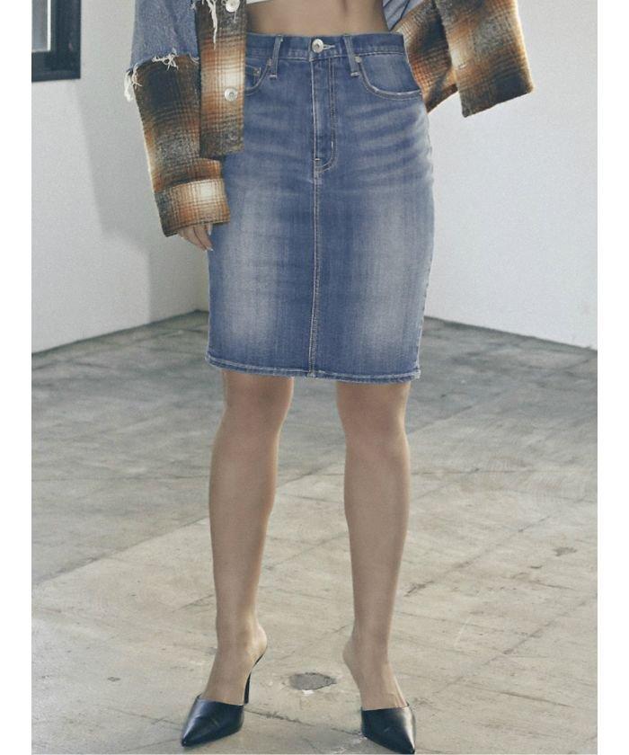 BACKスリットデニムスカート