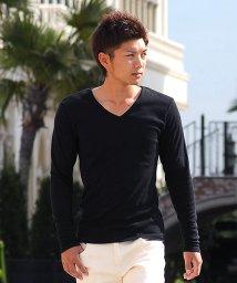 SPADE/Tシャツ ティーシャツ メンズ 長袖 ロングTシャツ ロンT インナー カットソー おしゃれ 黒 白 ホワイト 無地 プレーン/501446678