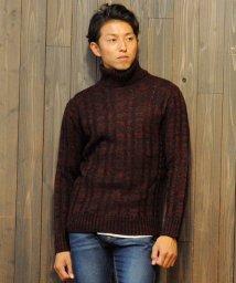 SPADE/セーター メンズ Men's ニット knit タートルネック ハイネック ボリュームネック ケーブル編み ケーブル 無地 ニットセーター/501446680