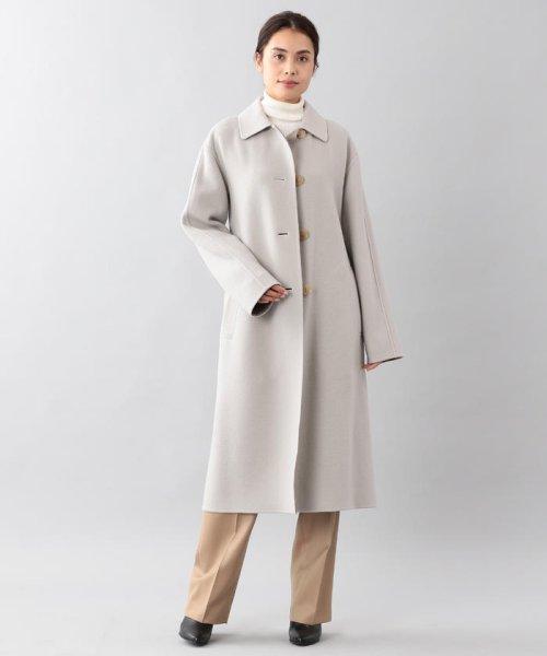 SANYO COAT(サンヨーコート)/<DoubleFaced Coat>ウールリバーシングルバルマカーンコート/T1B56833--
