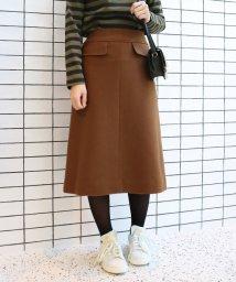 SLOBE IENA/JSメルトンAラインスカート◆/501448790