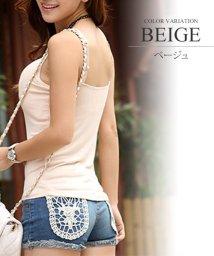 Amulet/カップ付インナーキャミソール/タンクトップ 韓国 ファッション レディース かわいい 美乳 シンプルバストアップ【vl-5298】/501451880