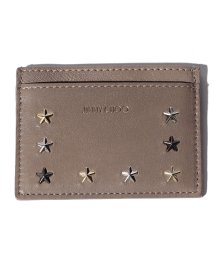 JIMMY CHOO/【JIMMYCHOO】レディースカードケース LEATHER W/MULTI METAL STAR TRIM/501435607