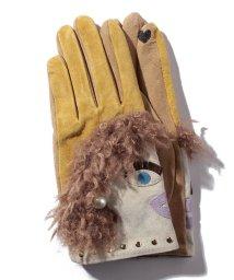 en recre/【CASSELINI】スマホ対応フェイスモチーフ手袋/501441760