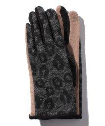 en recre/【CASSELINI】スマホ対応レオパード柄手袋/501441763