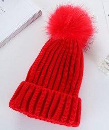 miniministore/ニット帽 レディース ボンボン 帽子 レディース 秋冬 ニットキャップ 帽子 冬/501454131