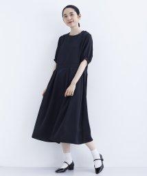 merlot/【plus】タックプリーツパフスリーブワンピース1530-0630/501454135