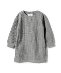 こどもビームス/Smoothy / ビッグシルエット ワッフル ロングスリーブ Tシャツ 18 (ボーイズ ガールズ 90~140cm)/501455708