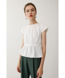 moussy/EMBROIDERY LACE FLARE トップス/501453459