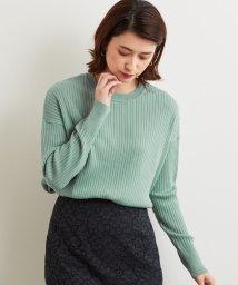 green label relaxing/[手洗い可能] D リブ ワイド ニット/501416039