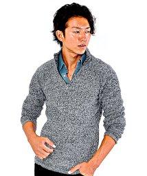 SPADE/リブニット セーター メンズ ニット 立襟 リブ編み スタンドカラー ハイネック ハイゲージ ミックス プルオーバー/501446651