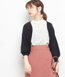 NICE CLAUP OUTLET/【natural couture】星柄シャーリングブラウス/501446716