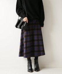 Spick & Span/チェックソフトフレアースカート◆/501457565