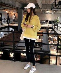Afelice/重ね着風スウェット 韓国 ファッション レディース ゆったり かわいい シンプル ふんわり【A/W】【ra-2048】/501458906