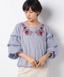 GeeRa/花柄刺しゅうバルーンスリーブブラウス/501377738