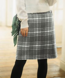 GeeRa/ベルト付ラップ風台形スカート        /501377836