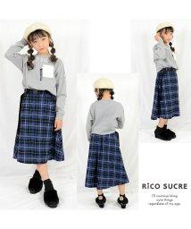 RiCO SUCRE/ベルト付チェックロングスカート/501448370
