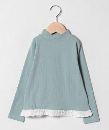 b-ROOM/裾フリルモックネックTシャツ/501454361
