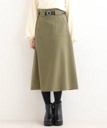 MAJESTIC LEGON/ベルト付ロングAラインスカート/501195588