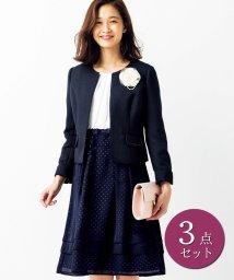 ryuryu/透かしデザインが上品な着回し3点スーツ/501377716
