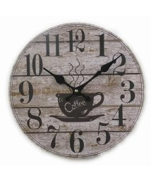 En Fance/モチーフクロック 「SHOP series」 28cm コーヒー ウッデン - 1/501394105