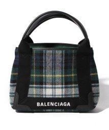 BALENCIAGA/【BALENCIAGA】チェックトートバッグ/NAVY CABAS XS AJ【VER/BLA/JAUN/NAVY】/501451027