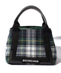 BALENCIAGA/【BALENCIAGA】チェックトートバッグ/NAVY CABAS S【VER/BLA/JAUN/NAVY】/501451028