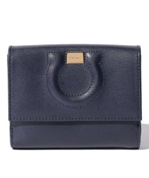 Salvatore Ferragamo/【Salvatore Ferragamo】2つ折り財布/CITY【NAVY/PALE GREY】/501451057
