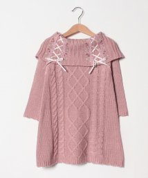 axes femme kids/お花刺繍レースアップワンピース/501455712