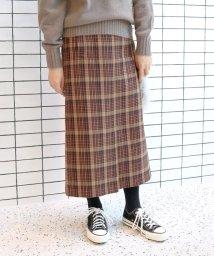SLOBE IENA/ツイードチェック サイドポケットスカート◆/501463763