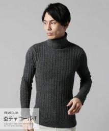 THE CASUAL/(バイヤーズセレクト) Buyer's Select コットン100%バレンシアリブ編みVネックニット/500702422