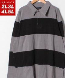 MARUKAWA/大きいサイズ ラガーシャツ/501440437