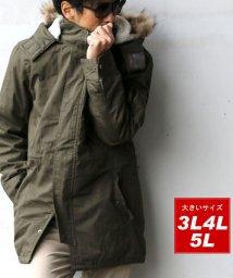 MARUKAWA/大きいサイズ ツイル モッズコート/501440443