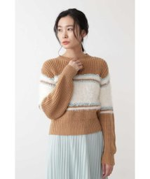 NATURAL BEAUTY BASIC/|steady 2月号掲載|カラーブロックニット/501462578