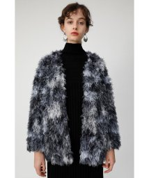 moussy/COLLARLESS CURLY FAUX FUR コート/501462806