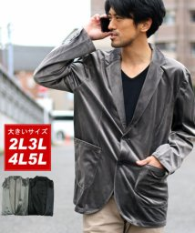 MARUKAWA/大きいサイズ ベロア ジャケット/501422587