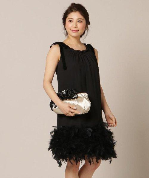2e42f9f3063e3 WILLSELECTION(ウィルセレクション) シフォンスソフェザードレス ブラック