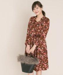 URBAN RESEARCH/【ROSSO】オリジナル花柄スタンドカラーワンピース/501457675