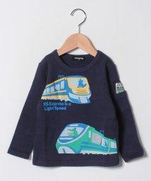 kladskap/袖ポケットつき電車プリントコットンTシャツ/501459819