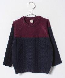 petit main/ケーブル切り替えクルーネックセーター/501459832