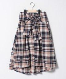 Lovetoxic/チェックシャツスカート/501459835