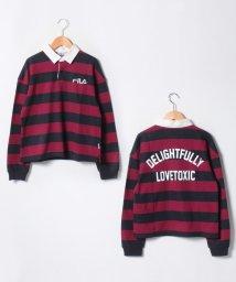 Lovetoxic/FILAコラボ裏毛ワイドボーダーラガーシャツトレーナー/501459836