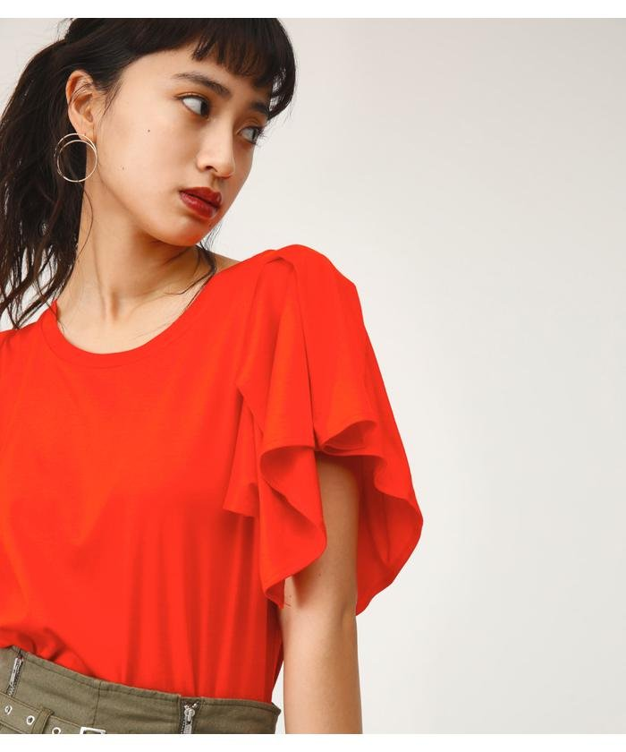 TUCK FRILL CUT TOPS