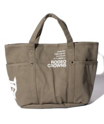 RODEO CROWNS(BAG)/【RODEO CROWNS】CANVAS LOGO PRINT TOTE M/501458409