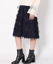 LANVIN en Bleu/カットジャガードスカート/501400232