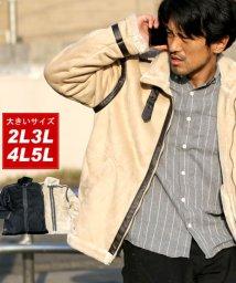 MARUKAWA/大きいサイズ ストレッチ フェイクムートン B-3 ジャケット/501422589