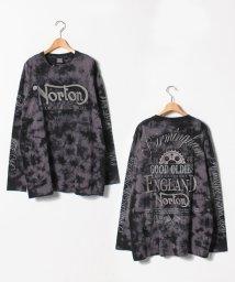 MARUKAWA/【NORTON】 大きいサイズ 長袖 プリント Tシャツ/501457800