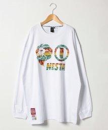 MARUKAWA/【NESTA BRAND】 大きいサイズ 長袖 プリント Tシャツ/501457804